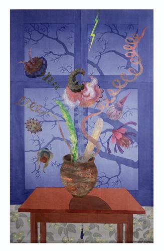 Nattens blommor (mitten 1980-tal) - 230x140 cm