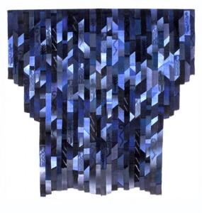 Rytmer i blått (början 1990-tal) - 180x160 cm