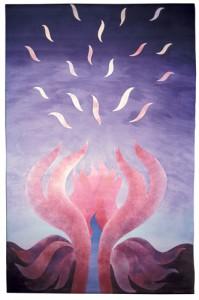 Vulkanblomma I (mitten 1980-tal) - 230x140 cm