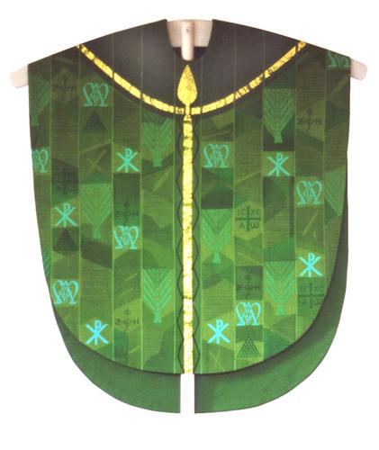 Grön mässhake fram