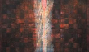 Källan i mörka natten (slutet 1990-tal) - 110x180 cm