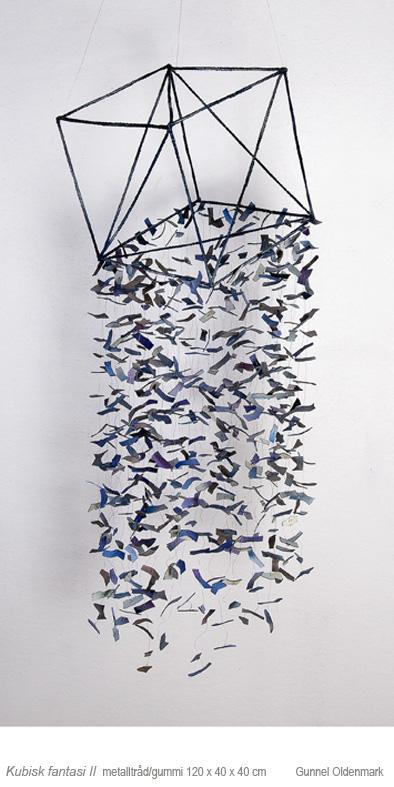 Kubisk fantasi II - 120x40x40 cm